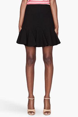 Carven Black Flounce Skirt