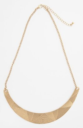 Topshop Etched Bar Collar Necklace