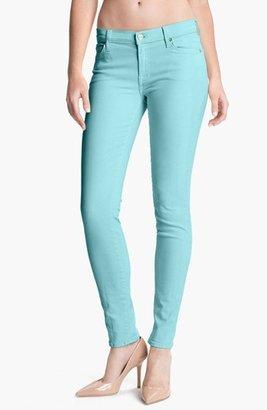7 For All Mankind 'Slim Illusion' Skinny Stretch Jeans (Bright Aqua) Womens Bright Aqua Size 25 25
