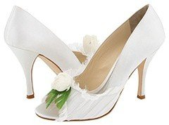 Shannon Britt Paula (White With Feather Flower) - Footwear