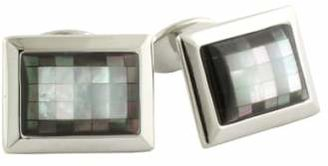 David Donahue Sterling Silver, Mother-of-Pearl & Hematite Cuff Links