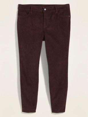 Old Navy High-Waisted Secret-Slim Pockets Rockstar Super Skinny Plus-Size Corduroy Pants