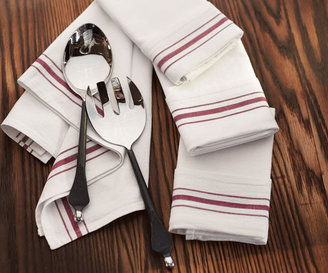 Napa Style White & Burgundy Napkins