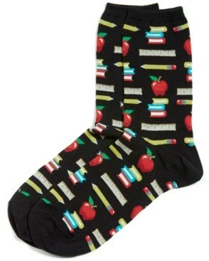 Hot Sox Women's Teacher's Pet Fashion Crew Socks