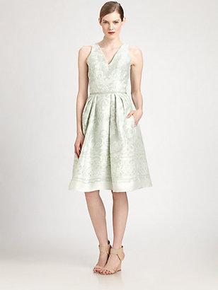 Carolina Herrera Baroque Print Dress