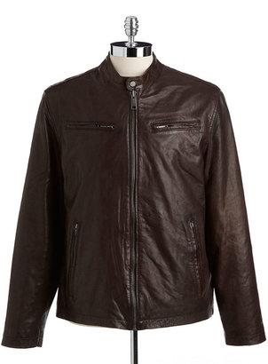 Andrew Marc New York Vernon Leather Moto Jacket