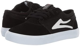 Lakai Griffin (Little Kid/Big Kid) (Black/White Suede 2) Men's Skate Shoes
