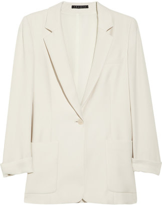 Theory Washed-crepe blazer