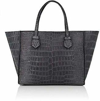 Moreau Paris Women's Brégançon Crocodile Zip Tote Bag - Gray