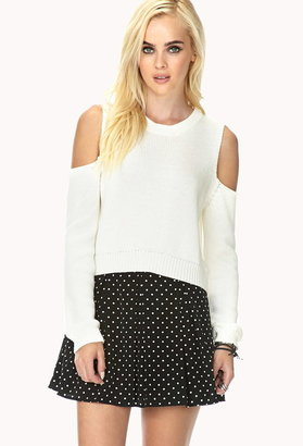 Forever 21 Bold Cutout Cropped Sweater