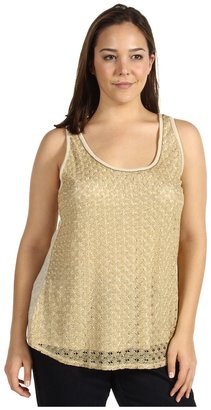 Lucky Brand Plus Size Gilded Lace Tank Top Women's Clothing