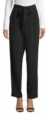 Halston H Slouchy Belted Pants