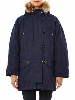 Etoile Isabel Marant Felton fur trimmed parka coat