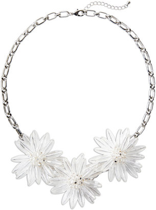 The Limited Icy Floral Statement Necklace