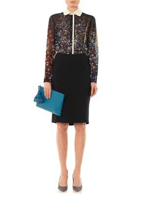 L'Agence Crepe pencil skirt