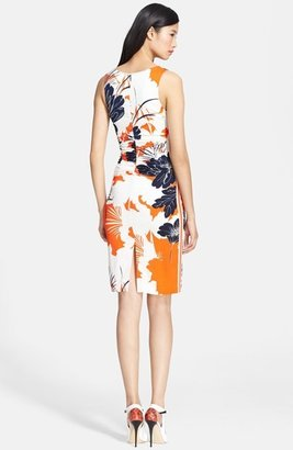 Tracy Reese Print Stretch Crepe Tank Dress