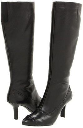 Rockport Lianna Brogue Boot (Black Smooth Calf) - Footwear