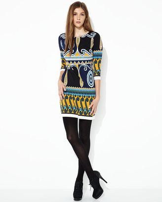 Ali Ro Printed Three-Quarter-Sleeve Dress, Marigold