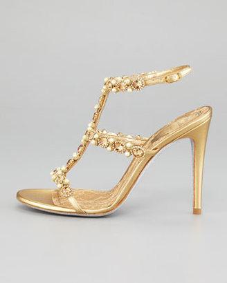 Rene Caovilla T-Strap Beaded Sandal