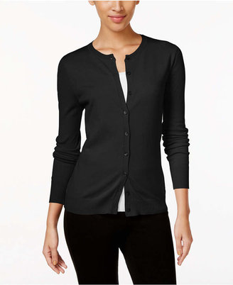 August Silk Crew-Neck Cardigan $36.98 thestylecure.com