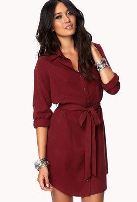 Forever 21 Classic Shirt Dress w/ Sash