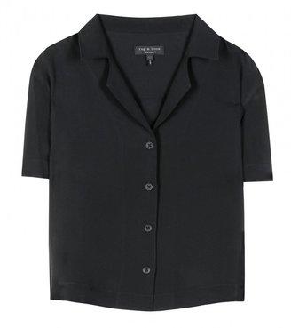 Rag and Bone Rag & Bone Cropped silk shirt