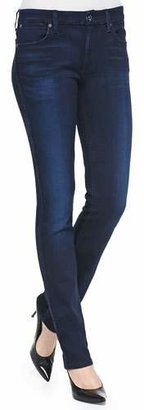 7 For All Mankind The Modern Straight Leg Jeans, Pristine Blue Black $189 thestylecure.com
