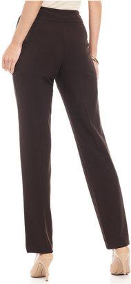JM Collection Petite Pants, Tummy Control Slim Leg Pull-On Pant