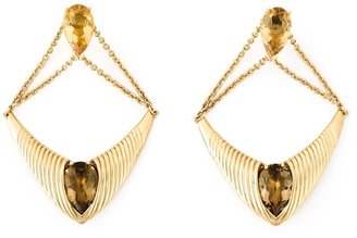 Shaun Leane 'Bound' champagne quartz earrings