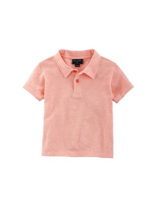 Oscar de la Renta Boys' Heathered Cotton Polo