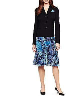 Le Suit Printed Skirt and Solid Jacket Set