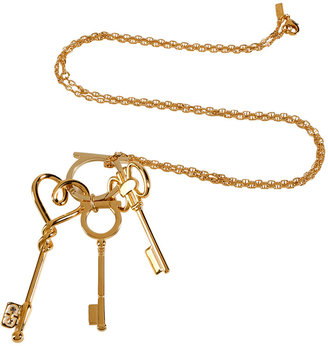 Salvatore Ferragamo Gold Key Charm Necklace