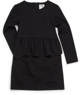 Milly Minis Girl's Peplum Ponte Dress