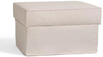 Pottery Barn PB Comfort Upholstered Storage Ottoman