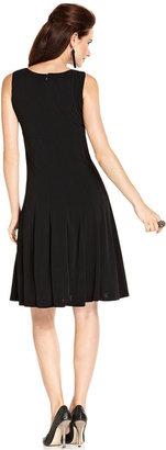 Jessica Howard Petite Dress and Jacket, Sleeveless Pleat Empire Waist