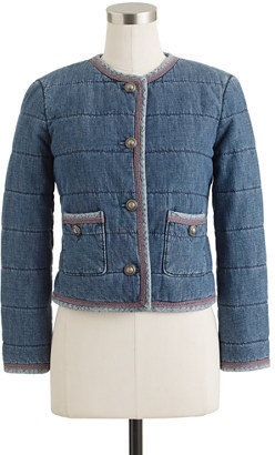 J.Crew Quilted denim jacket