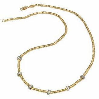 Torrini Rondelle Moving Mini - 18K Yellow Gold and Diamond Necklace
