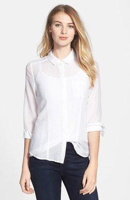 Halogen Cotton & Silk Shirt