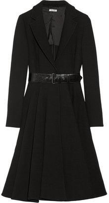 Miu Miu Belted wool-blend gabardine coat