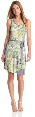 Kensie Women's Textured Snake Dress