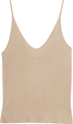 Alexander Wang Cropped stretch-jersey tank