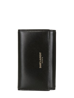 Saint Laurent Brushed Leather Small Flap Wallet