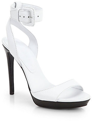 Burberry Alderney Leather High-Heel Sandals