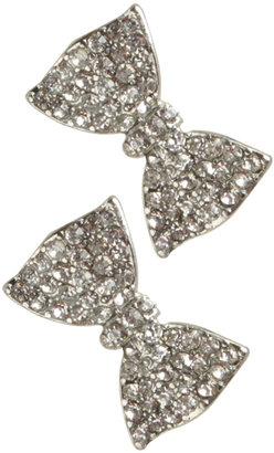 Wet Seal Bling Bow Button Earring
