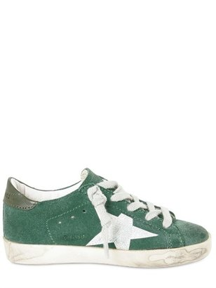 Golden Goose Emerald Suede Tennis Shoes