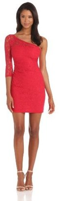 Max & Cleo Women's One-Shoulder Lace Dress