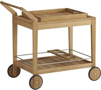 Crate & Barrel Regatta Lounge Chair with Sunbrella® White Sand Cushion