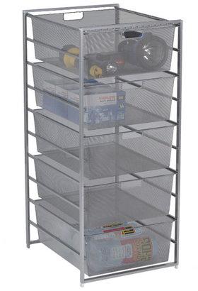 Container Store elfa Mesh Garage Drawers Platinum
