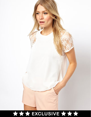 Love Swing Top With Lace Insert