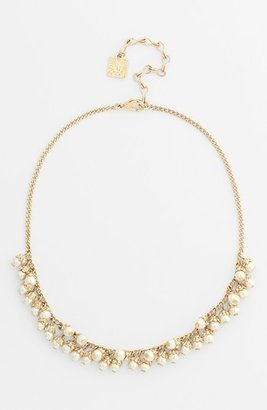 Anne Klein Faux Pearl Frontal Necklace